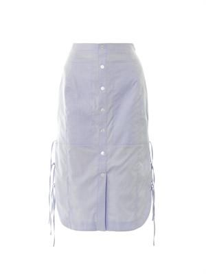 Mochi button down midi skirt
