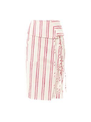 Obi Japanese stripe skirt