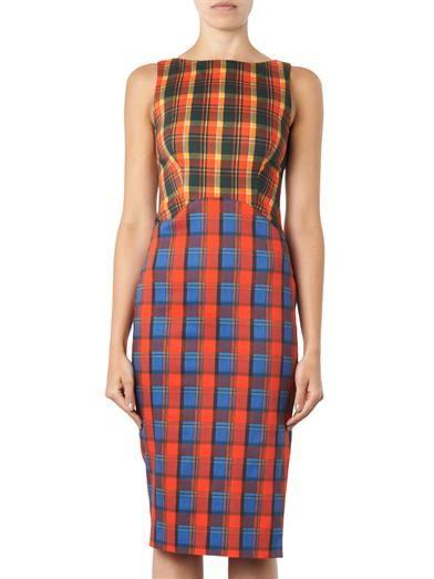 Altuzarra Shadow multi-check sheath dress