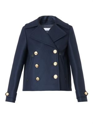 Steppe wool-blend pea coat