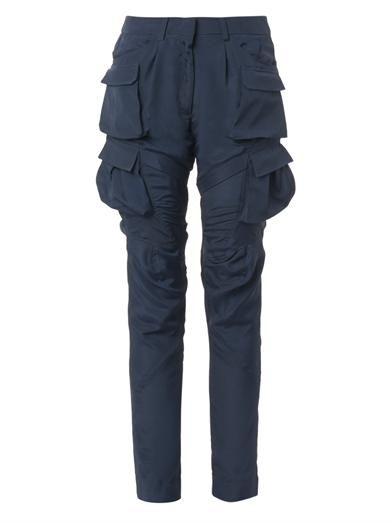Altuzarra Hugo multi-pocket crepe trousers