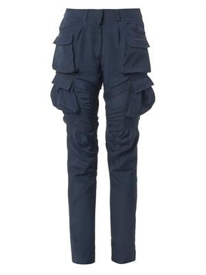 Hugo multi-pocket crepe trousers