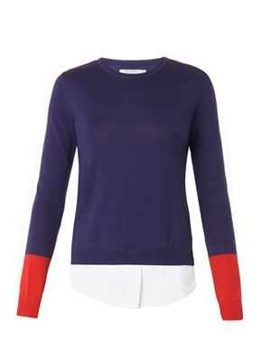 Walkaloosa shirting-hem knit sweater