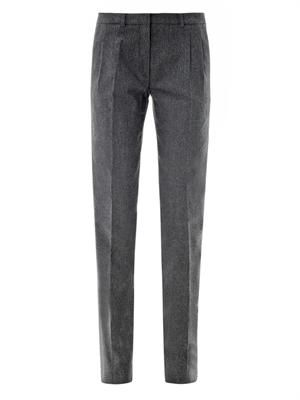 Nessie straight-leg flannel trousers