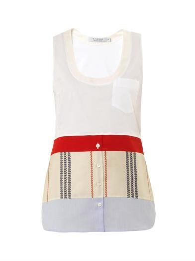 Altuzarra Saki patch-pocket silk tank