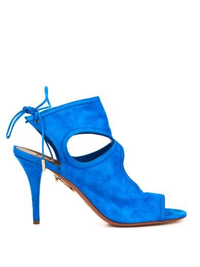 Aquazzura Sexy Thing suede sandals