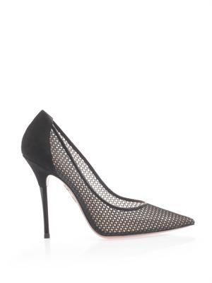 Lulu mesh point-toe pumps