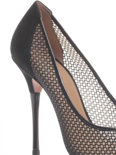 Aquazzura Lulu mesh point-toe pumps