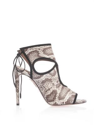 Sexy Thing elaphe snakeskin sandals