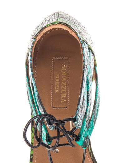 Aquazzura Beverly Hills snakeskin sandals