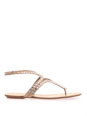 Caipiroska crystal-embellished sandals