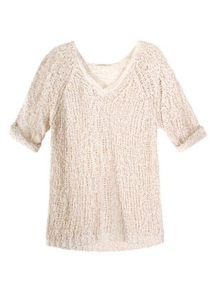 Loose-knit cotton sweater