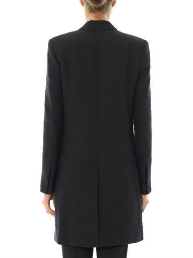 A.L.C. Rune chequerboard jacquard coat