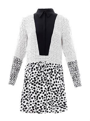 Elison silk-crepe dress