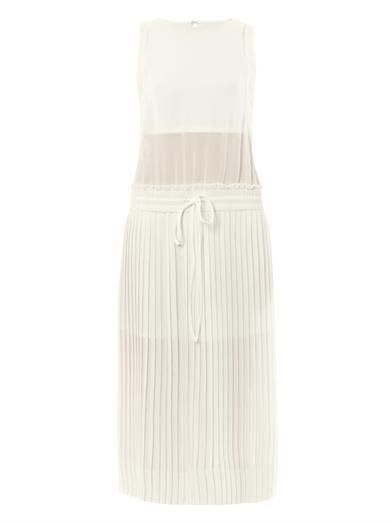 A.L.C. Heather pleated crepe dress