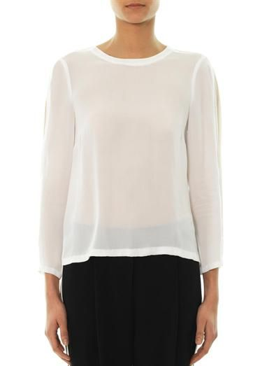 A.L.C. Bassett sheer-panel blouse