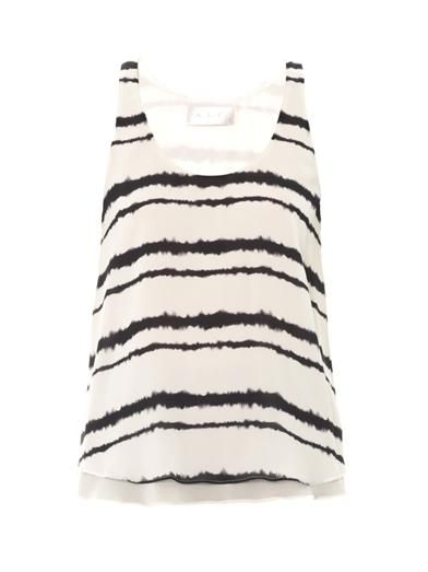 A.L.C. Hepburn bleed-print blouse