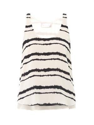 Hepburn bleed-print blouse