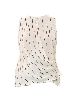 Dae lightning bolt printed silk top