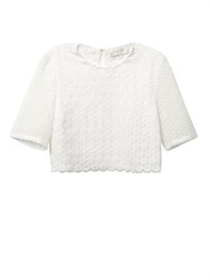 Fremont crochet cropped blouse