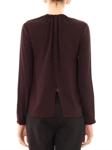 A.L.C. Open-back silk blouse
