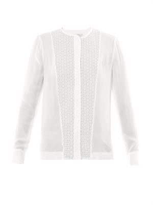Deen crochet panel blouse