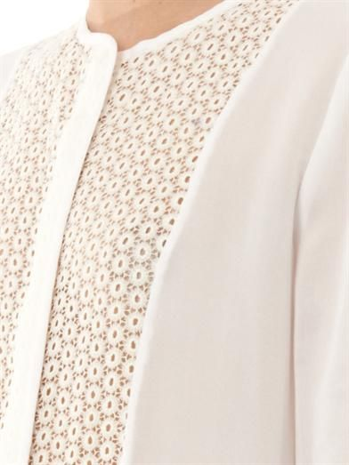 A.L.C. Deen crochet panel blouse