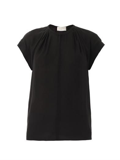 A.L.C. Short-sleeve silk-georgette blouse