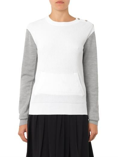 A.L.C. Bi-colour multi-knit sweater