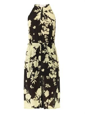 Kanan silhouette flower-print dress