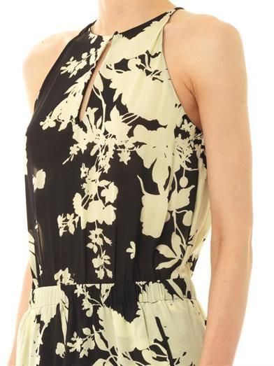 A.L.C. Kanan silhouette flower-print dress