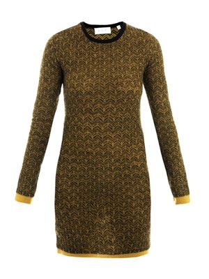 Clea jacquard knit dress