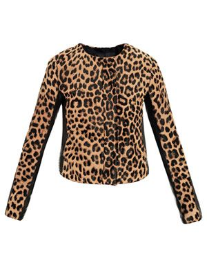 Savile leopard-print pony hair jacket