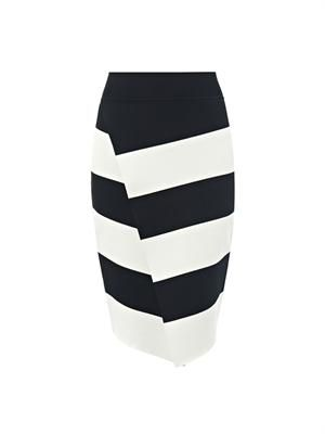 Campbell striped-knit skirt