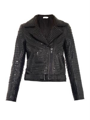 Blake studded leather jacket