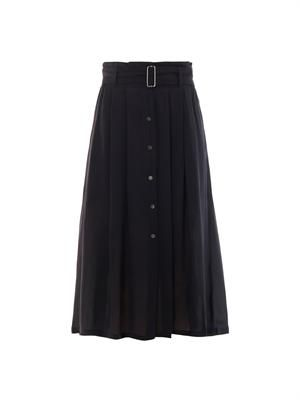 McDermott pleated crepe skirt