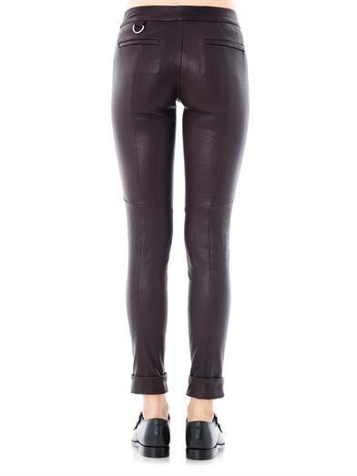 A.L.C. Daniel leather trousers