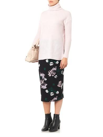 A.L.C. Winter Floral-print silk skirt