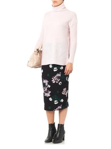 A.L.C. Winter Floral-print silk skirt