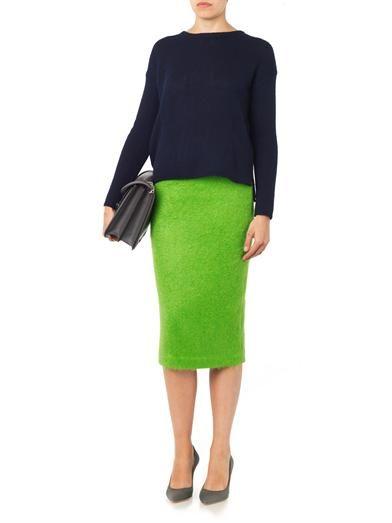 A.L.C. Mohair-blend pencil skirt