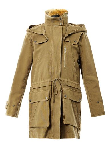 A.L.C. Fur trimmed parka coat