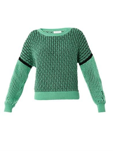 A.L.C. Maddie mesh covered yarn sweater