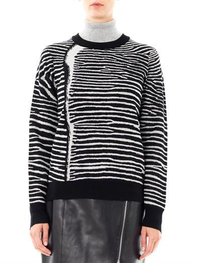 A.L.C. Zebra knit sweater