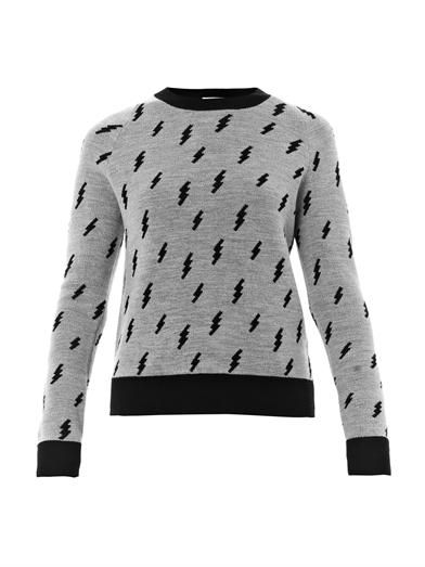 A.L.C. Castillo lightning bolt intarsia sweater