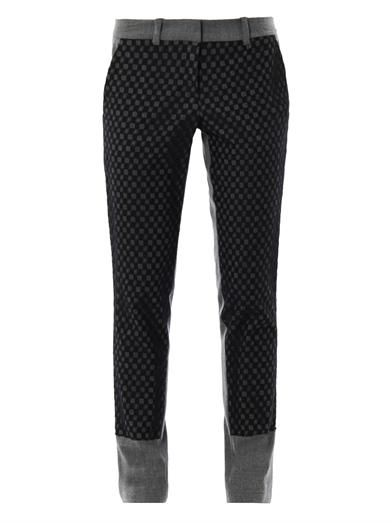 A.L.C. Check front tailored trousers