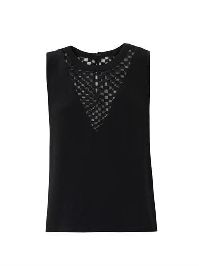 A.L.C. Check lace panel blouse