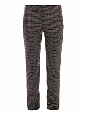 Parker check trousers