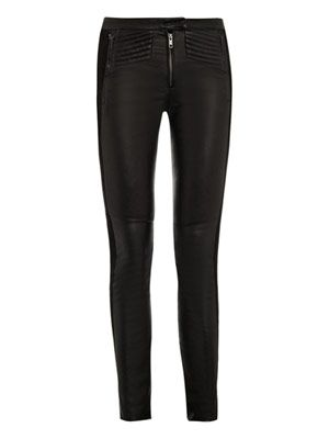 Panelled Hedon leather trousers