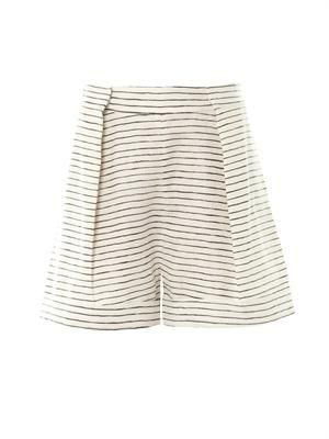 Sea Stripe linen shorts