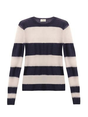 Octave stripe mohair-blend sweater